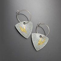 Bird Keum Boo Trillion Hoops Enameled Earrings