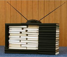 My kind of TV!  BIBLIOVISION by Kevin Van Aelst (photographer). Published July 15, 2009 in The New York Times.