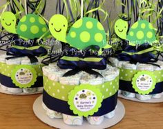 Items similar to Turtle Baby Shower Diapers Centerpiece with Balloon, Diaper Cake, Diaper cakes, Turtle Centerpiece. on Etsy Jordan Baby Shower, Baby Shower Deco, Baby Shower Cake Pops, Baby Shower Diapers, Baby Shower Cookies, Shower Cakes, Baby Shower Themes, Baby Boy Shower, Baby Shower Gifts