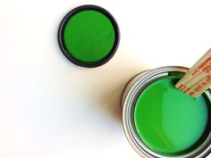 The most amazing green!  Benjamin Moore's Neon Green