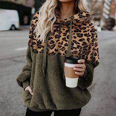 Hooded Sweatshirts, Hoodies, Leopard Sweater, Leopard Print Top, Cheetah, White Hoodie, Pullover, Sweater Hoodie, Casual