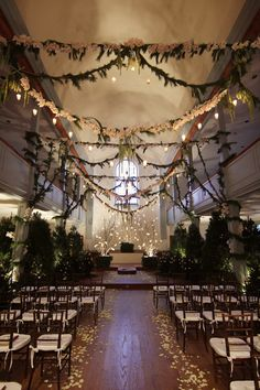 Magical Forest Inspired Indoor Wedding                                                                                                                                                                                 More