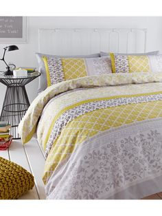 Catherine Lansfield Oriental Birds Cotton Rich Duvet Cover and Pillowcase Set - 168 x 183cm Bring some Eastern influence to your space with the Oriental Birds collection from Catherine Lansfield. Against a soft yellow base, this gorgeous duvet cover and pillowcase set flaunts a beautiful striped design filled with cherry blossoms and finches. These prints surround more traditional Oriental patterns, creating a stunning look that's perfect for the modern bedroom. Pair with the matching eye...