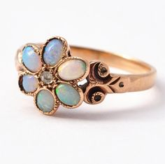 1900s opal rose gold ring