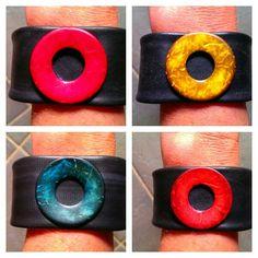 Recycle Design armbanden gemaakt van binnenbanden van de fiets
