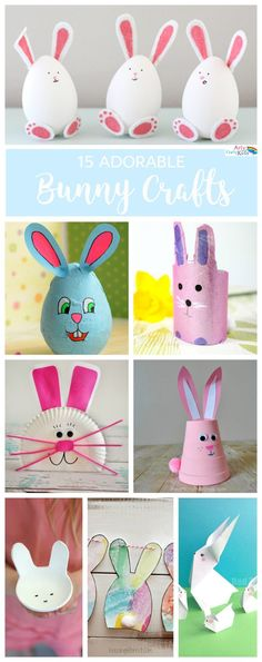 Arty Crafty Kids Easter Super Adorable Bunny Crafts A gorgeous collection of easy and super adorable Easter bunny crafts for kids. Easter Art, Bunny Crafts, Easter Crafts For Kids, Toddler Crafts, Easter Bunny, Easter Eggs, Easter Table, Easter Decor, Animal Crafts For Kids
