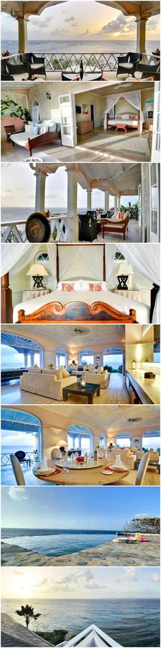 honeymoon villa Hillside Mustique View of Caribbean Sea and Grenadine Islands #SerenityBay #wanderlust #bucketlist
