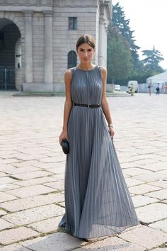 25 Trend Milan Street Style Italian Fashion For Women - Fashion Outfit Ideas Best Formal Dresses, Short Dresses, Prom Dresses, Pleated Dresses, Pleated Maxi, Dress Formal, Bride Dresses, Chiffon Dress, Wedding Dresses