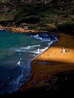 Ramla Beach, Gozo, Malta - viewed from Calypso's Cave
