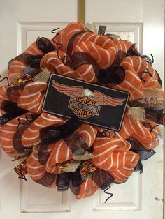 Harley Wreath by HighMaintenanceDes on Etsy, $50.00