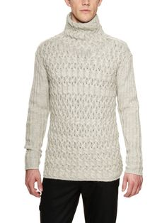 Trellis Cable Knit Sweater by John Varvatos Collection on Gilt.com