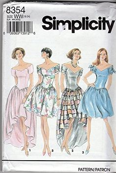 Simplicity Sewing Pattern 8354 ©1993 Misses/Petite Formal Dress, Size 18-24 Simplicity http://www.amazon.com/dp/B017C40ZBA/ref=cm_sw_r_pi_dp_FgUmwb1422E3T