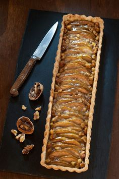 Ginger Pear Tart with Walnuts