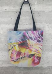 Desert Rose: What a beautiful product -  whole printed tote bag with abstract floral motive.