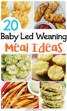 Need ideas quickly? We've got 20 family recipes for baby led weaning - perfect for finger foods too! Hidden veggie meatballs, baby friendly curry and more. #FoodForBaby