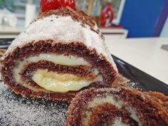 Receita de Rocambole de Chocolate prático da Ana Maria Braga Mais Você de 09/10/2012 Receita de rocambole do Mais Você com cacau em pó, leite condensado e ovos