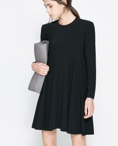 ROUND NECK DRESS WITH SEAMS from Zara