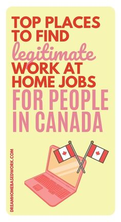 These Canadian-based work from home opportunities range from call center and translation to teaching and software design. Make sure to check back regularly as new jobs are added to this list! #workathome #jobs #canada