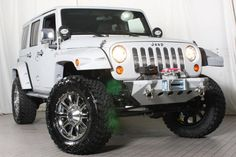 White and Chrome #Jeep #Wrangler