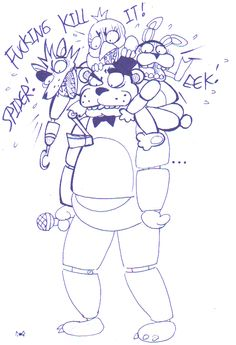 """cageyshick05: """" Just a silly and quick Fnaf doodle… will color soon """""""