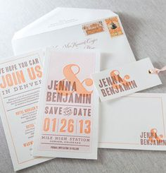 Dauphine Press Letterpress Wedding Invitations