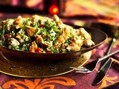 Marokkolainen kanatabouleh