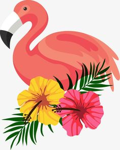 Beautifully decorated beautiful flamingo flower frame PNG and Vector Flamingo Vector, Flamingo Flower, Flamingo Birthday, Flamingo Party, Flower Frame, Flower Art, Do It Yourself Baby, Aloha Party, Tropical Flowers