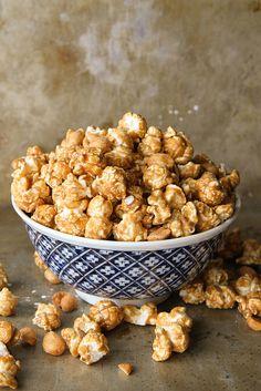 Bourbon Caramel Corn with Honey Roasted Peanuts
