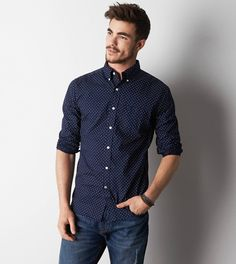 Dark Blue Button Down Shirt