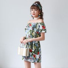 9778d94a3aee Plus Size Women Floral Slash Neck Off Shoulder Ruffles Tunic Playsuits 2018  Summer Female Ladies Sexy