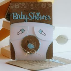 This is cute with the baby shower colors and the image can be changed to fit theme also