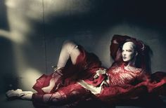 Kate Moss by Paolo Roversi for W April 2015 - I'm assuming no one actually wears things like this?