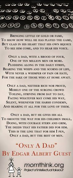 Poem About Dads (Edgar Albert Guest)