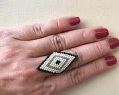 flexible ring rhombus, comfortable, boho style, many colours Rhombus Shape, Boho Style, Flexibility, Boho Fashion, Finger, Design Ideas, Colours, Beads, Jewelry