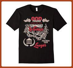 Mens God Found Strongest Women Make Lawyer T Shirt XL Black - Careers professions shirts (*Partner-Link)