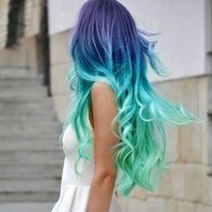 Purple,blue,teal hair