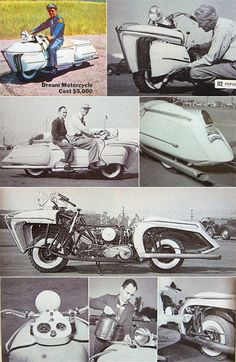 Little is known about Courtney, though his name does pop up again in a 1953 Popular Science article, along with photos of another motorcycle he modded in 1950--with a style evolving along with the times: