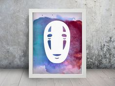 No Face Spirited Away Inspired Fan Art Watercolor by TheRaesPrints