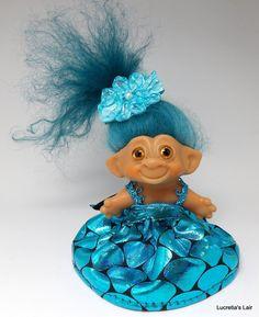 Vintage Uneeda Wishnik Troll Doll OOAK by LucretiasLair on Etsy