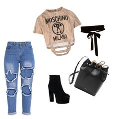 """""""Bez naslova #2"""" by irma-alibasic ❤ liked on Polyvore featuring Moschino and Mansur Gavriel"""