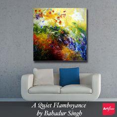 A Quiet Flamboyance by Bahadur Singh on artflute.com