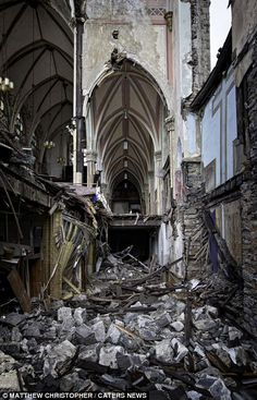 It is difficult to imagine how such a magnificent church fell into this bad a state of disrepair