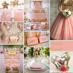 ピンクとゴールドの組み合わせは、「大人かわいいウェディング」のコンセプトにぴったり!