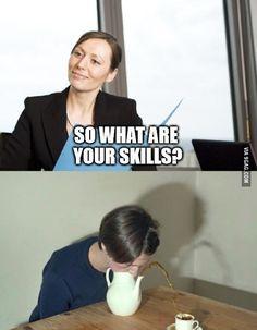 During a job interview