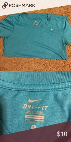 Nike dri-fit shirt Blue Nike dri-fit shirt. EUC. Nike Tops Tees - Short Sleeve