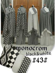 mukena monocrom