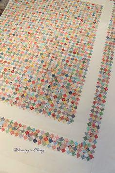 "Postage Stamp Quilt ""Forty-Nine Cents"""