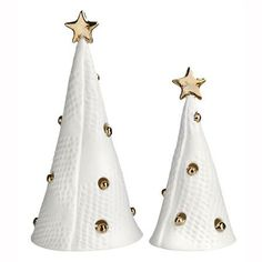 Abildgaard Set of 2 Christmas Trees, H12/H9cm