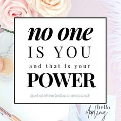 ✨No one is you and that is your power✨ . Don't forget it! You were put on this earth to be YOU and no one else. We need you to be unapologetically yourself and to do the work you were meant to do. This is our ONLY chance to experience your power. . Don't waste it hiding for fear of what others will say or think of you. The world needs you. . Join me LIVE in my training to overcome self doubt and the fear of judgment so you can get visible with VIDEO and grow your business online. It's…