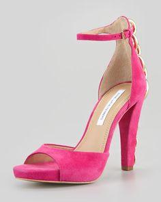 Diane von Furstenberg - Sofia Chain-Back Runway Sandal, Rose Garden